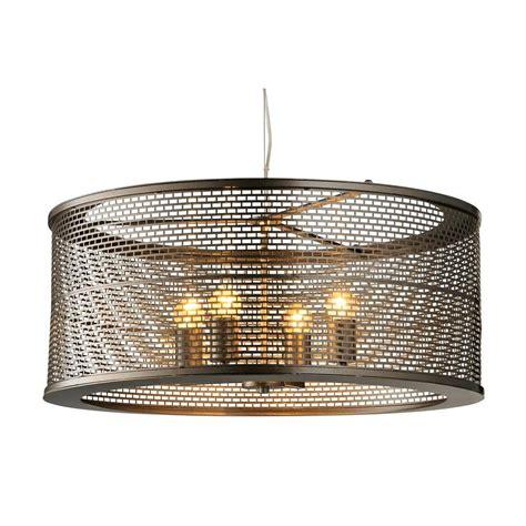 Varaluz Lit Mesh Test 4 Light New Bronze Pendant With Mesh Lights