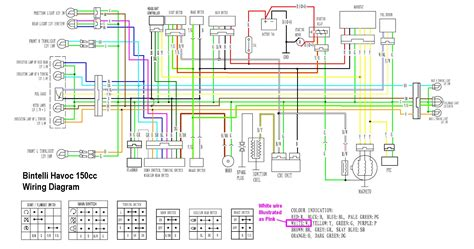 bintelli havoc 150cc wiring diagram wiring diagrams