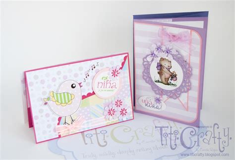 La Tan Gift Card - it s a sweet baby girl handmade cards set the crafting nook by titicrafty