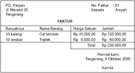 Contoh Faktur Pembelian Jasa by 301 Moved Permanently