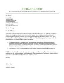 student cover letter exle application cover letter
