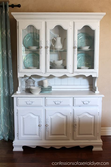 diy chalk paint hutch 60 yard sale hutch confessions of a serial do it yourselfer