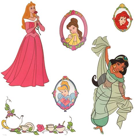 disney princess stickers for walls disney princess stickers royal portraits wall decals