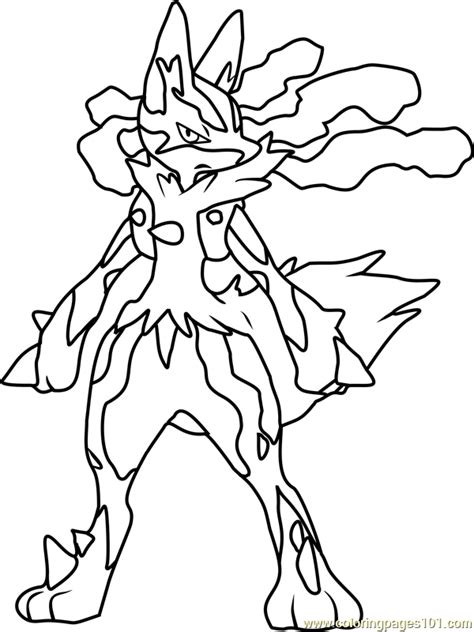 pokemon coloring pages lucario mega lucario pokemon coloring page free pok 233 mon coloring