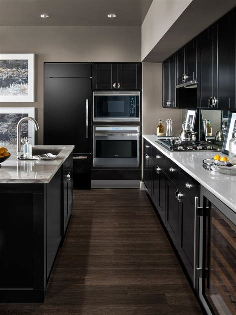 modern black kitchen cabinets small modern kitchen design ideas hgtv pictures tips