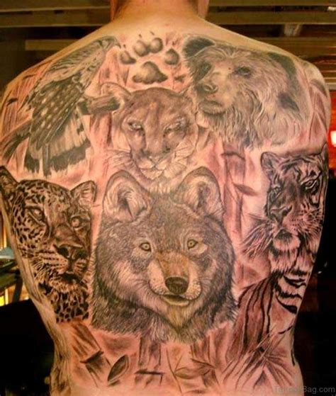 Animal Tattoo On Back | 80 animal tattoos for back