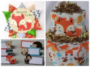 Woodland animals baby shower supplies gt gt mom to be corsage place