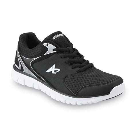kmart mens athletic shoes athletech s shadow athletic shoe black white