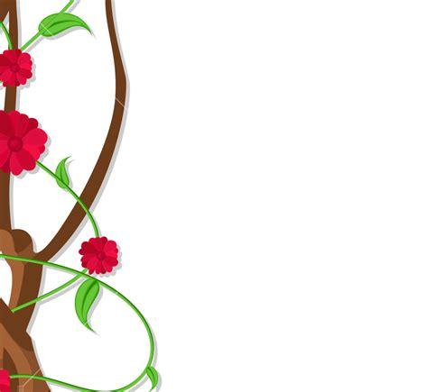 design flower branch flowers branch border design vector royalty free stock