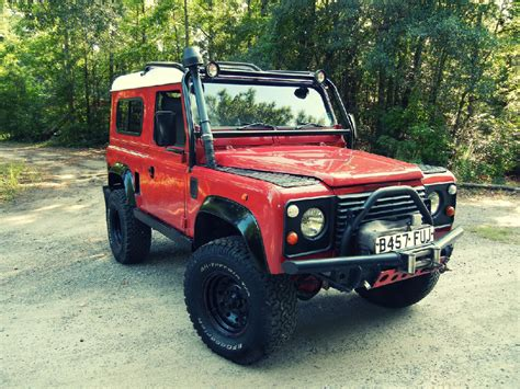 red land rover defender 1980 land rover defender 90 quot