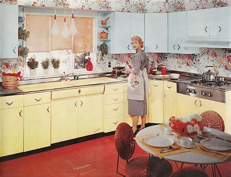 Kitchen Colors Of The 1950 S 13 Pages Of Youngstown Metal Kitchen Cabinets Retro