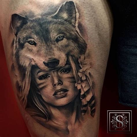 wolf tattoo for girl filter american with a wolf hat