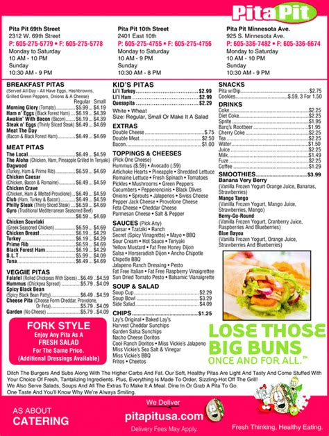 pita pit sioux falls sd 57104 yellowbook