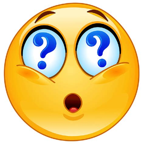 emoji question face highly questionable symbols emoticons