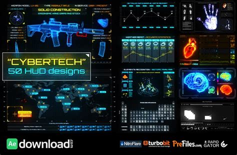 videohive free template 10 top hud infographics free after effects templates