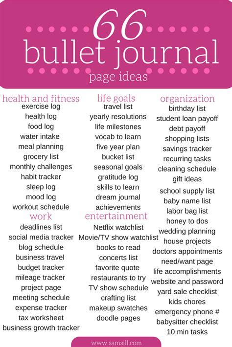bullet journal ideas 7 ways to kick start your bullet journal samsill world
