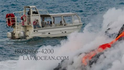 lava boat tours hawaii volcano boat tour see hawaii lava youtube