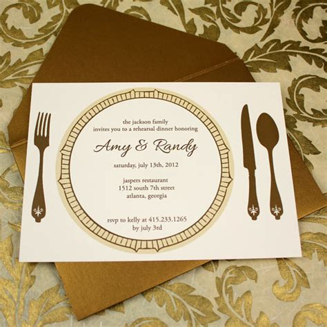 invitation template elegant rehearsal dinner invitation