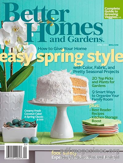 better homes gardens april 2010 187 free pdf magazines
