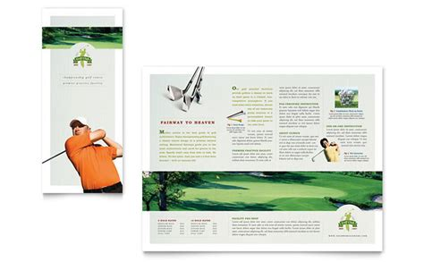 course brochure template golf course tri fold brochure template design