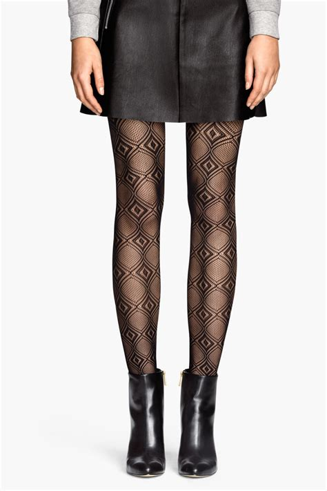 patterned tights m s lace patterned tights black sale h m us