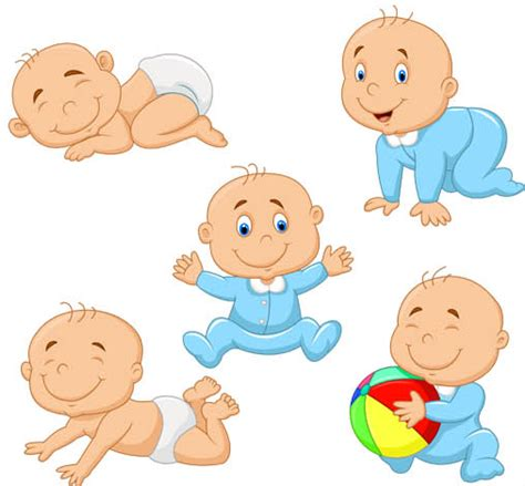 wallpaper cartoon baby boy babies vector graphic ai format free vector download