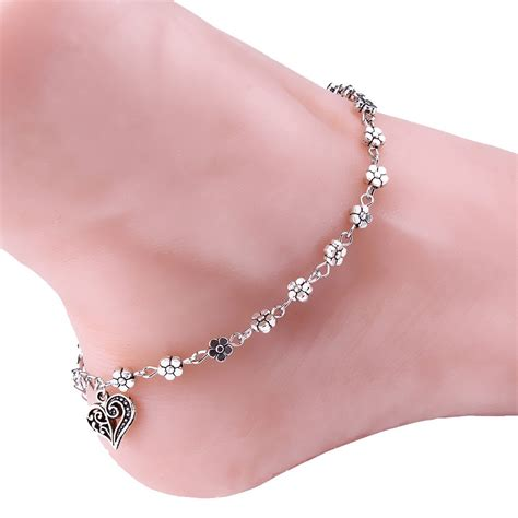 7 Ankle Bracelets by Silver Bead Chain Anklet Ankle Bracelet Barefoot