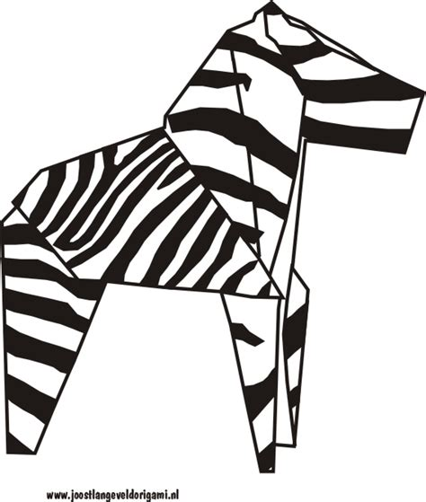 How To Make A Origami Zebra - kleurplaat origami zebra