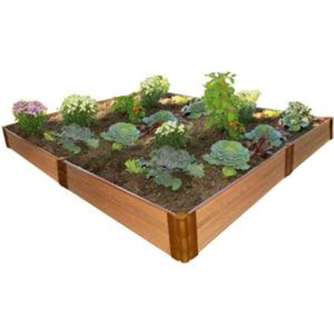 raised bed garden kits home depot terrasse en bois frame it all one inch series 8 ft x 8 ft x 11 in