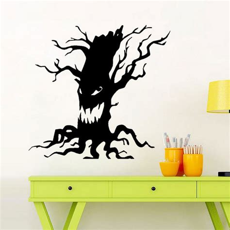 Wall Sticker Removable 3d Horror Ghost Series 4 removable diy 3d ghost tree decorative wall