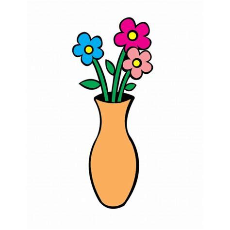 vaso fiori disegno di vaso con fiori a colori per bambini