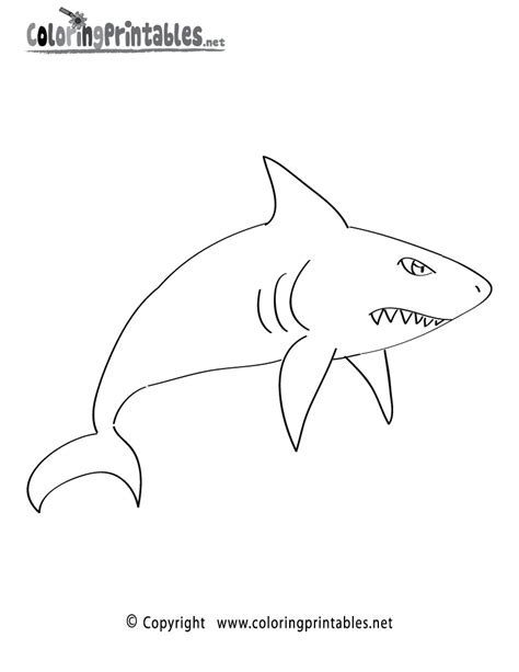 cartoon shark coloring page shark cartoon coloring page printable paint board