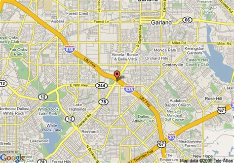 where is garland texas on map map of la quinta inn garland garland