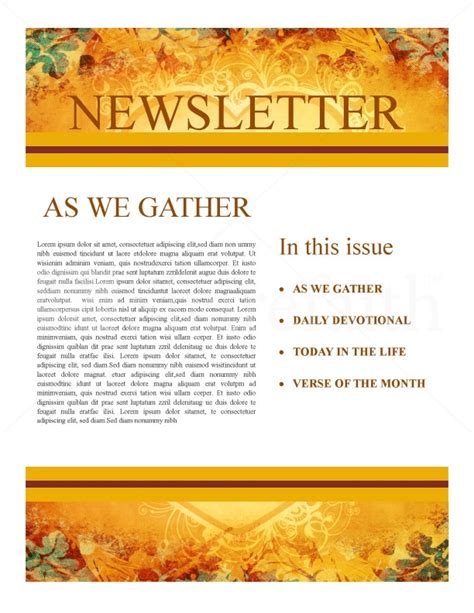 Heart Of Thanksgiving Newsletter Template Newsletter Templates Thanksgiving Newsletter Template Free