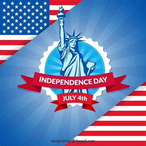 independence day patriotic independence day background vector free