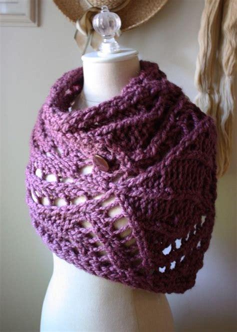 knit lace cowl pattern knitting pattern chunky lace cowl capelet wrap pdf