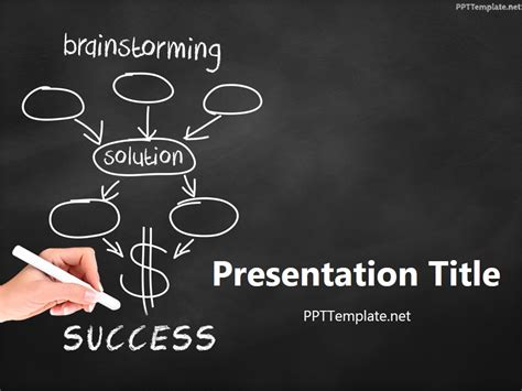 success powerpoint templates free free brainstorming success chalk black ppt template