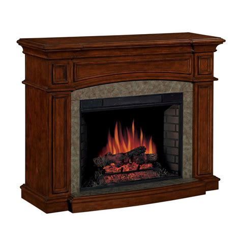 shop allen roth 33 quot traditional all in one electric fireplace at lowes