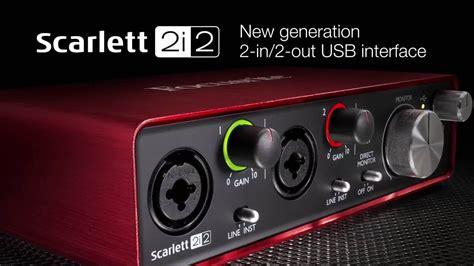 Focusrite Studio 2i2 Studio 2nd Generation Free Pop Filter focusrite the new second generation 2i2