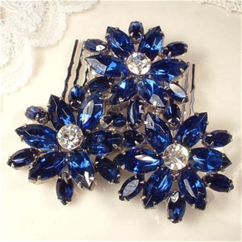 sapphire aqua blue rhines flower shop blue rhinestone flower brooch on wanelo