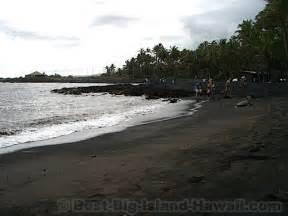 black sand island black sand beach big island hawaii