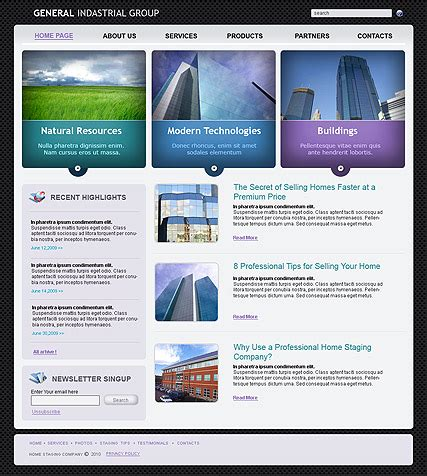 templates for industrial website industrial html website template best website templates
