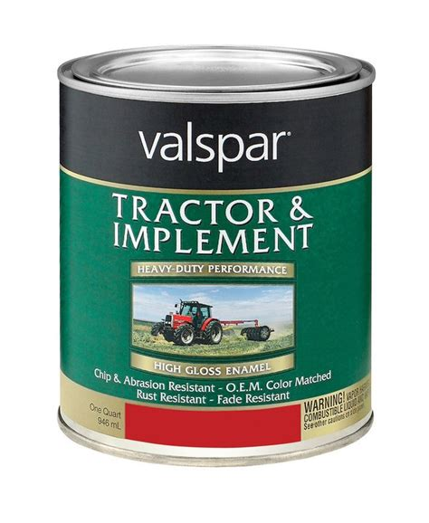 buy the valspar mccloskey 18 4432 01 05 tractor and implement paint quart hardware world
