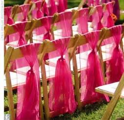 Are tulle chair sashes not modern looking weddingbee