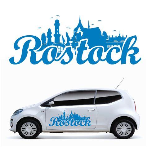 Autoaufkleber Ostsee by 10955 Autoaufkleber Skyline Rostock Hansestadt Ostsee Auto