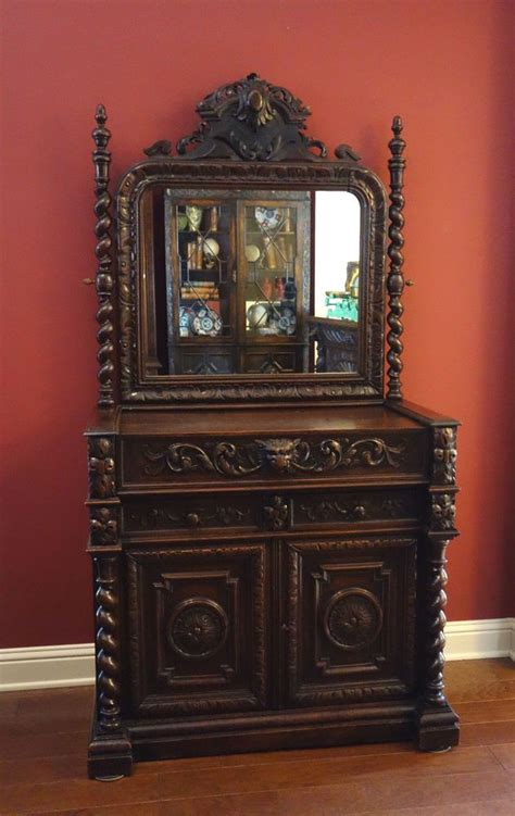 antique french dresser with mirror antique french carved oak dresser chest drawers barley