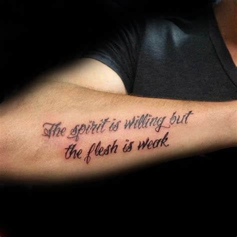 forearm tattoos for men words 40 forearm quote tattoos for worded design ideas