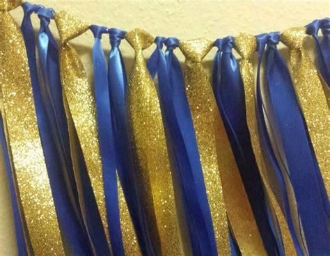 gold ribbon themes little prince royal blue gold ribbon garland 1st birthday