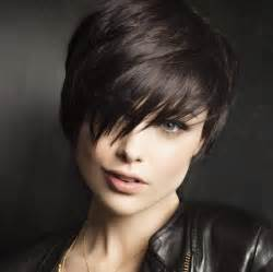 Bob haircuts for round face shape dark brown hairs