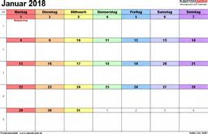 Kalender 2018 Querformat Kalender Januar 2018 Als Word Vorlagen